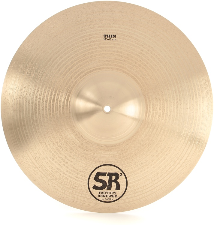 Sabian SR2 Factory Refreshed B20 Bronze Cast Cymbal - 18