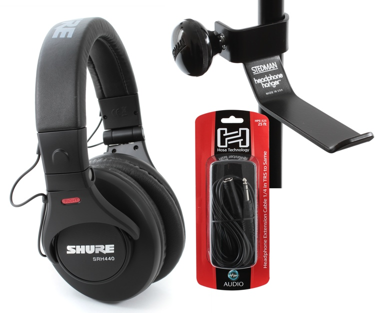 Sweetwater SRH440 Headphone, Hanger, Cable Bundle image 1