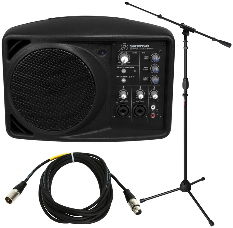Srm Furnitures: Mackie SRM150 Compact PA System With Stand And Cable