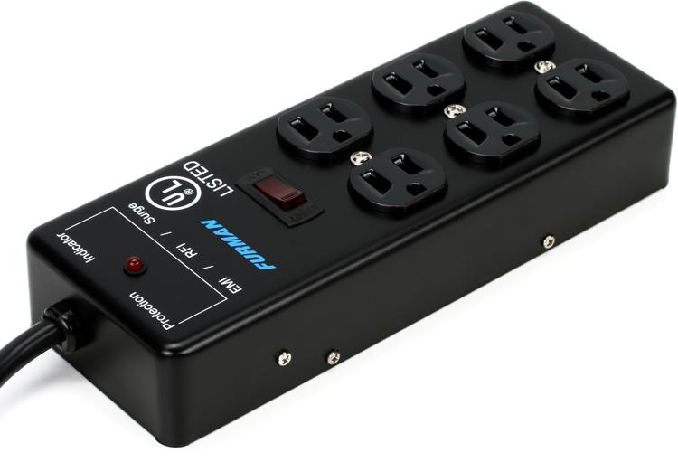 furman ss 6b 6 outlet power strip sweetwater. Black Bedroom Furniture Sets. Home Design Ideas