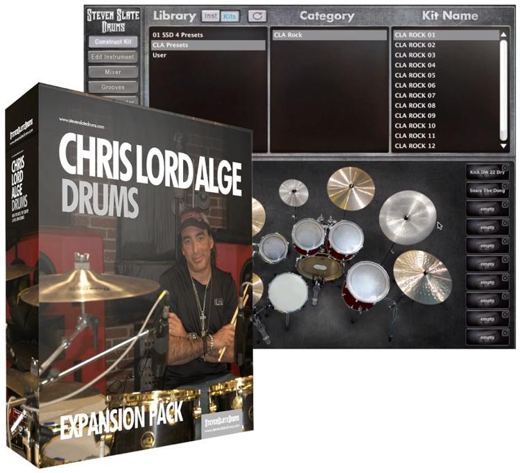 Steven Slate Drums Chris Lord Alge Drums Expansion for Steven Slate Drums image 1