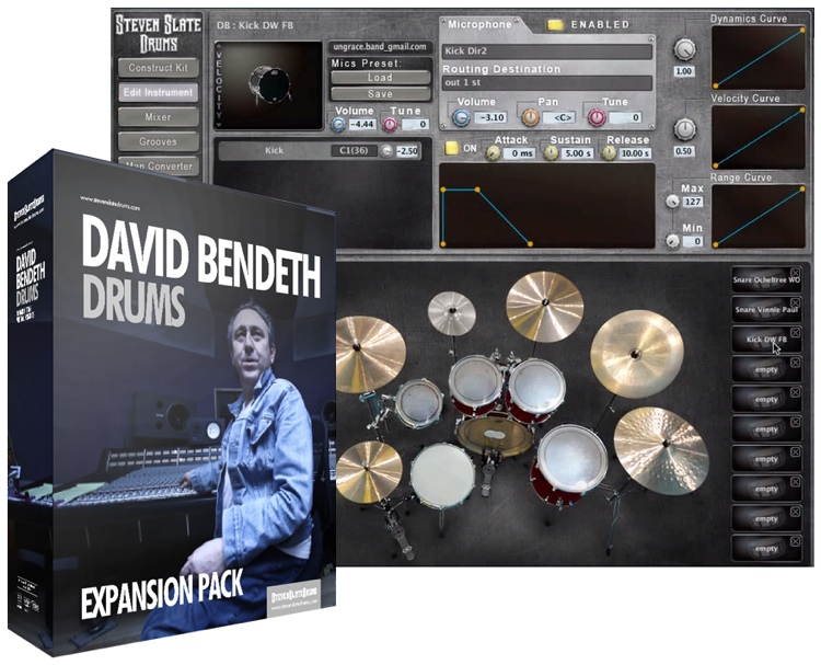 Steven Slate Drums David Bendeth Drums Expansion Pack for Steven Slate Drums image 1