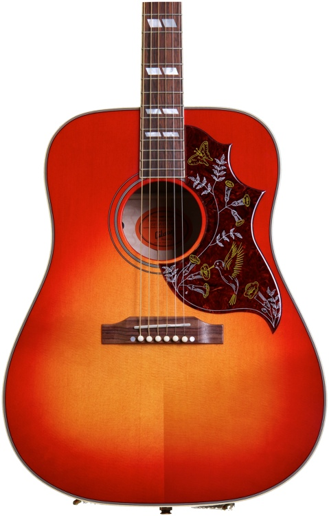 gibson acoustic hummingbird quilt cherry sunburst sweetwater. Black Bedroom Furniture Sets. Home Design Ideas