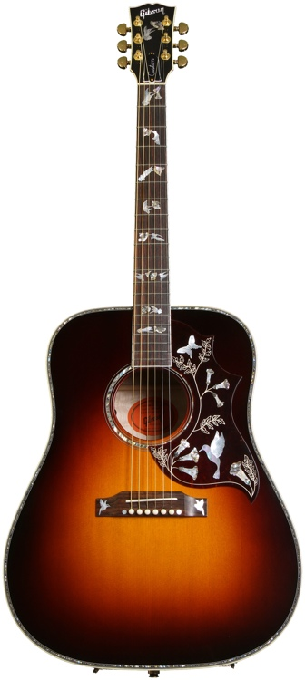 Gibson Acoustic Hummingbird Custom Quilt 2013 image 1