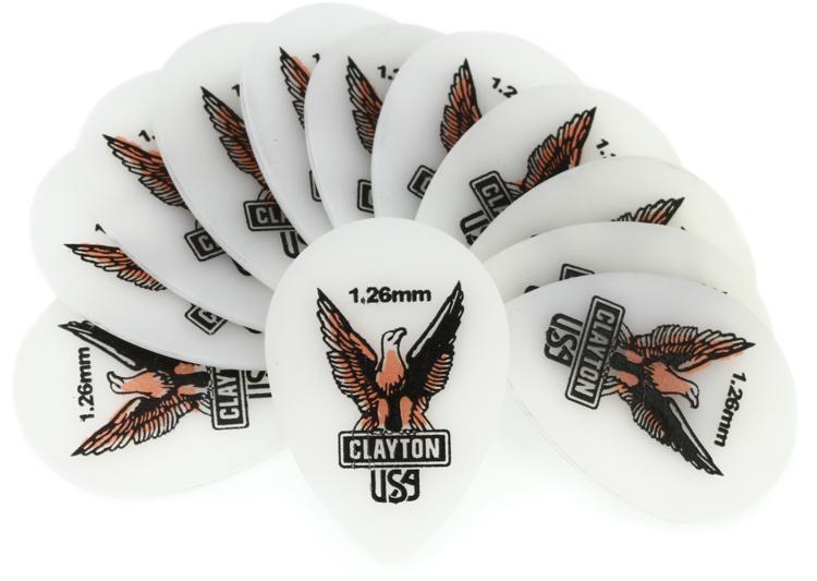 Clayton Acetal Small Teardrop Picks 12-pack 1.26mm image 1