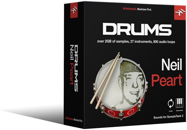 IK Multimedia Neil Peart Drums SampleTank 3 Sound Library image 1