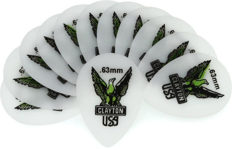 Clayton Acetal Small Teardrop Picks 12-pack .63mm image 1