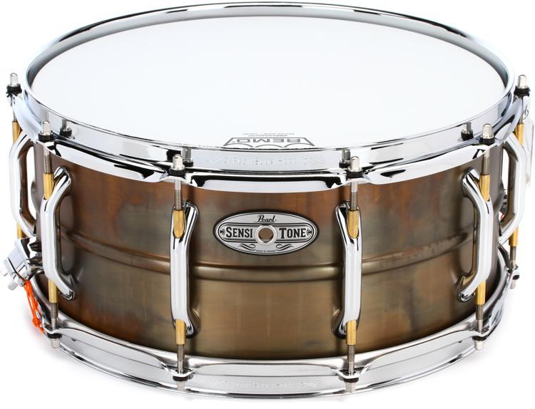 Pearl SensiTone Premium Beaded Brass Snare - 6.5