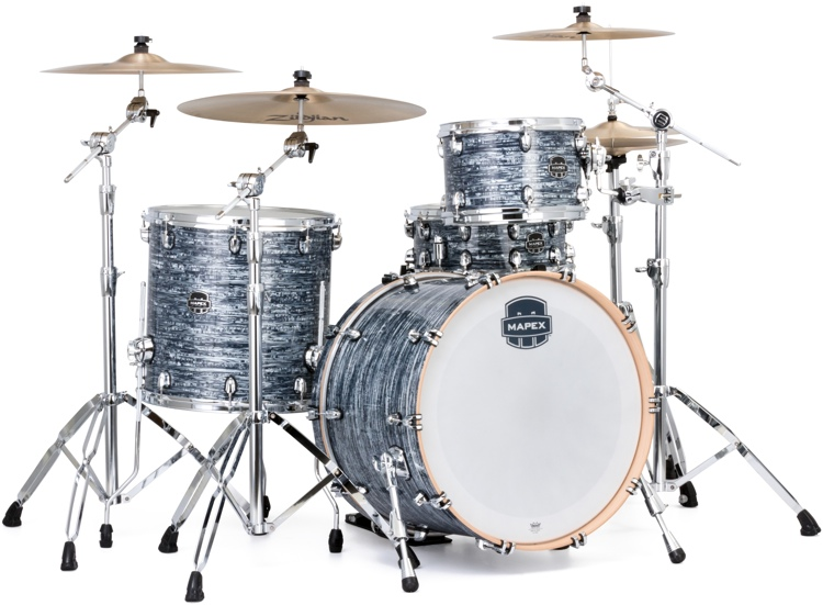 Mapex Saturn V Tour 22 3-piece Shell Pack - Black Strata Pearl image 1