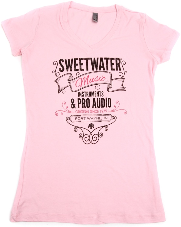 Sweetwater Girls\' Light-pink V-neck T-shirt - Girls\' Extra Small image 1