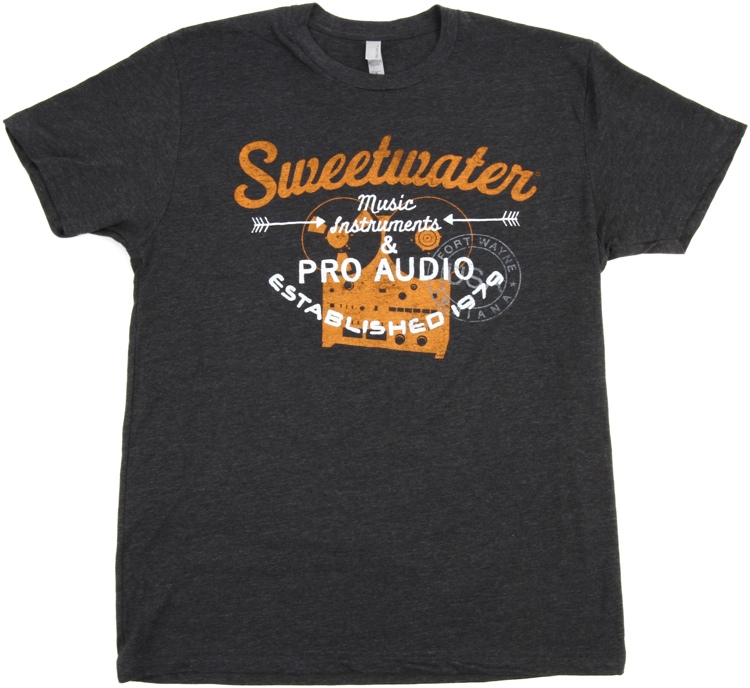 Sweetwater Charcoal Reel-to-reel T-shirt - Men\'s Fitted Large image 1
