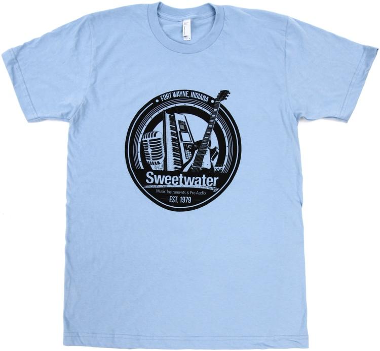 Sweetwater Trinity Badge T-shirt - Baby Blue, Medium image 1