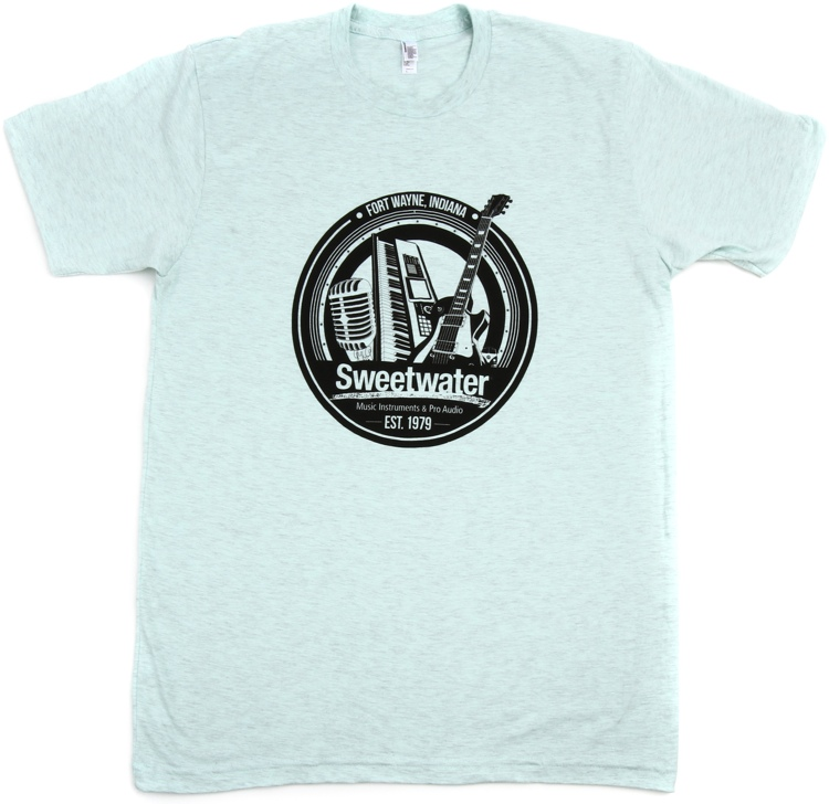 Sweetwater Trinity Badge T-shirt - Ash Gray Seafoam, XL image 1