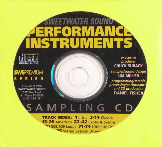 Sweetwater Sampling CD image 1