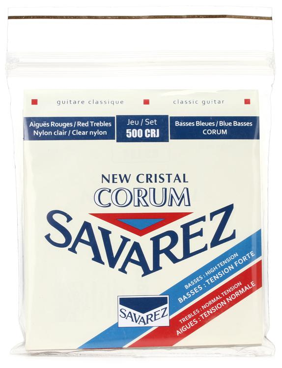Savarez S.A. 500CRJ New Cristal Corum Normal Tension Top/ High Tension Bottom Classical Guitar Strings image 1