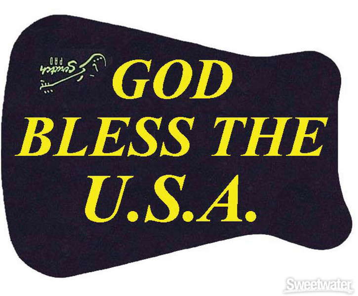 Scratch Pad Guitar Finish Protector - God Bless The USA image 1