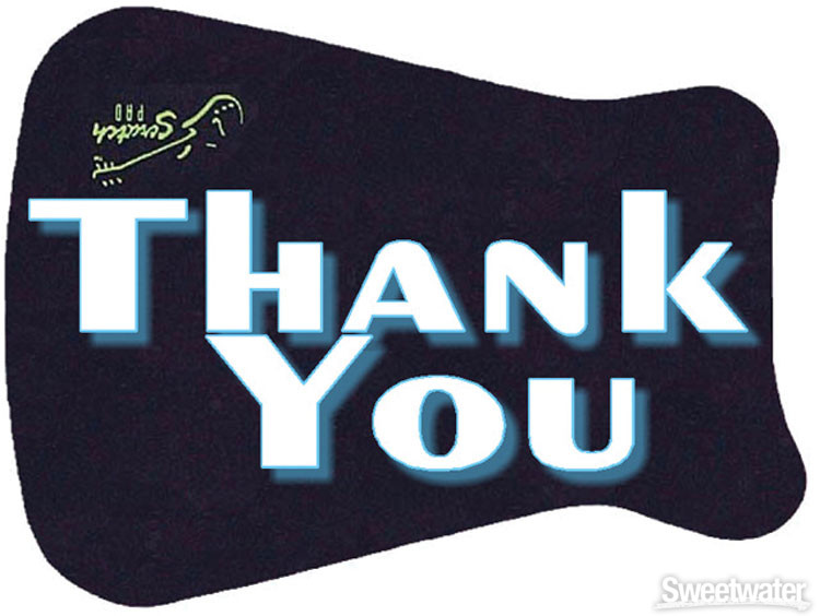 Scratch Pad Guitar Finish Protector - Thank You image 1