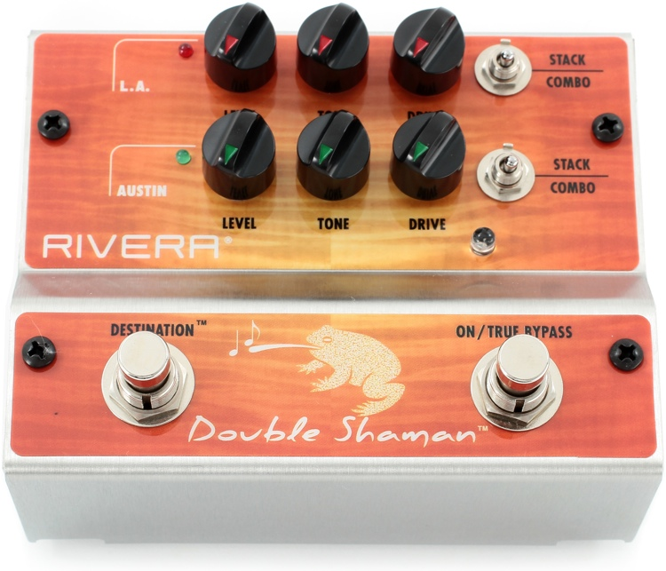 Rivera Double Shaman 2-channel Overdrive Pedal image 1