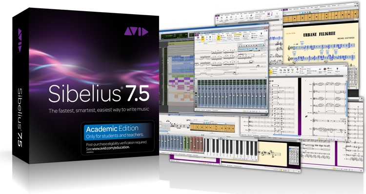 Avid Sibelius 7.5 plus PhotoScore and AudioScore Bundle - Academic Version image 1