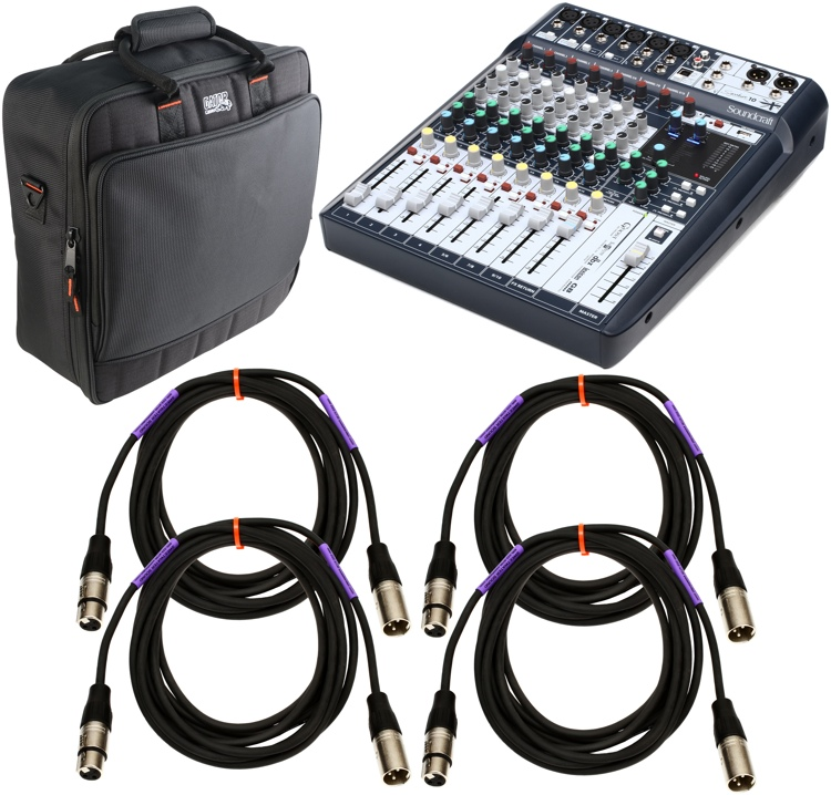 Soundcraft Signature 10 Mixer Package with Case and Cables image 1