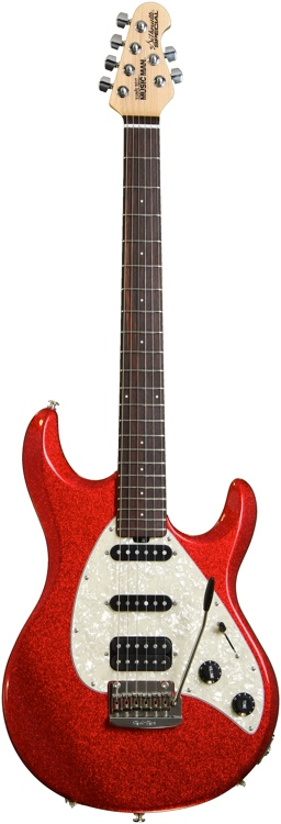 Ernie Ball Music Man Silhouette Special HSS - Cardinal Red Sparkle image 1