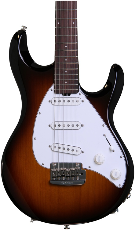 Ernie Ball Music Man Silhouette Special SSS w/Trem Tobacco Burst, All Rosewood Neck image 1
