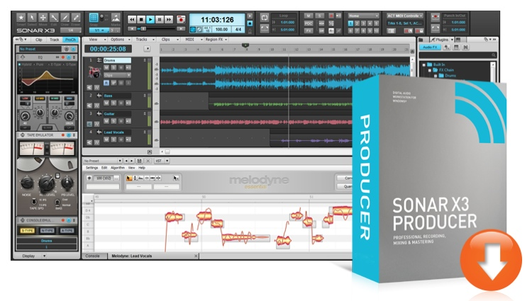 Cakewalk SONAR X3 Producer - Academic Version (boxed) image 1