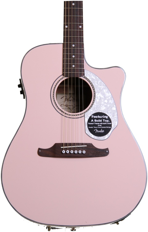Fender Sonoran SCE - Shell Pink with Matching Headstock image 1