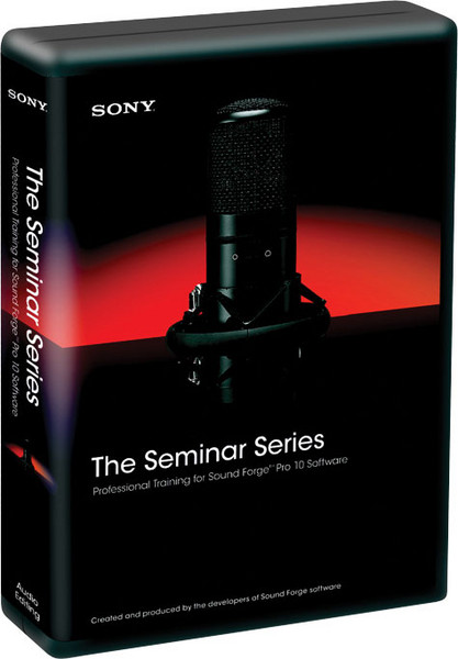 Sony The Seminar Series: Sound Forge Pro 10 image 1