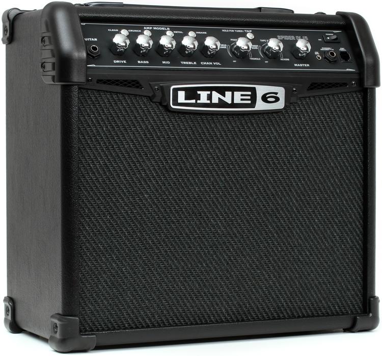 line 6 spider iv 15 modeling 15w 1x8 guitar combo amp. Black Bedroom Furniture Sets. Home Design Ideas