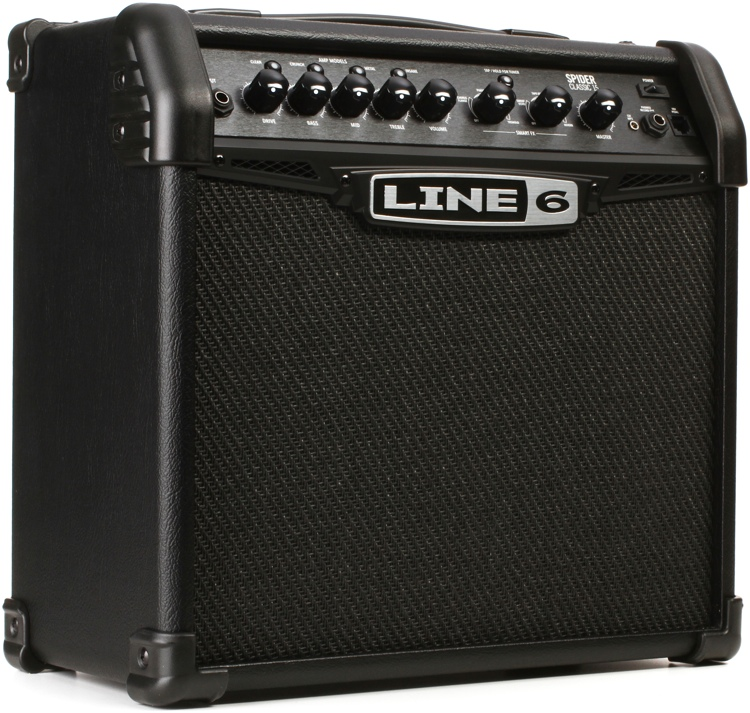 line 6 spider classic 15 15 watt 1x8 modeling combo amp sweetwater. Black Bedroom Furniture Sets. Home Design Ideas