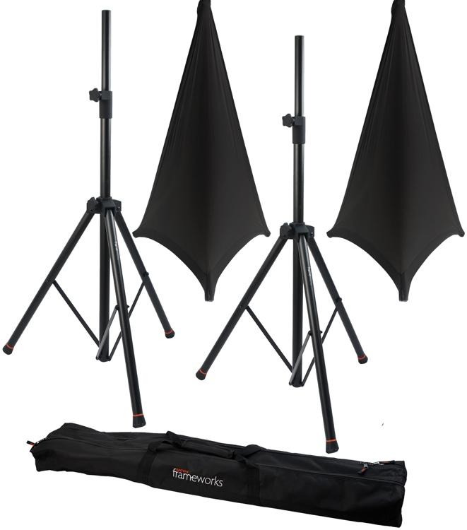 Gator Frameworks 3000 Speaker Stand, Bag and Cover Package - Black image 1