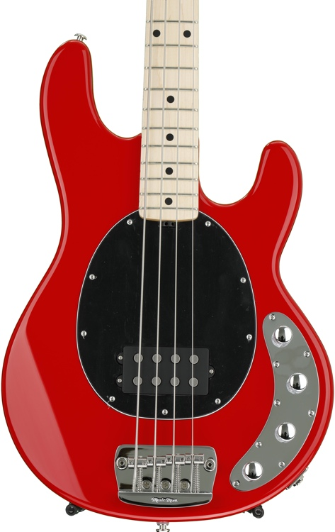Ernie Ball Music Man StingRay 4H, Sweetwater Exclusive - Chili Red with Black Pickguard, Maple Fingerboard image 1