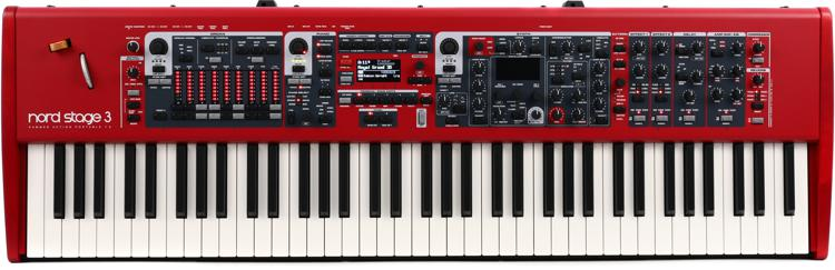nord stage 3 hp76 stage keyboard sweetwater. Black Bedroom Furniture Sets. Home Design Ideas