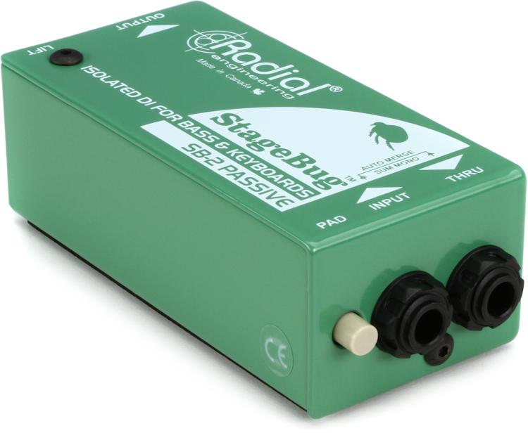 Radial StageBug SB-2 1-channel Passive Instrument Direct Box image 1