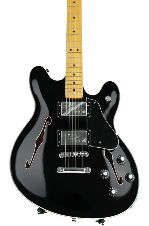 Fender Modern Player Starcaster - Black image 1
