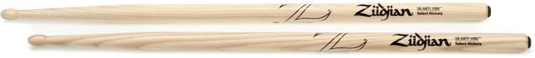 Zildjian 5BWA 5B Hickory Anti-Vibe Drumsticks - Wood Tip image 1