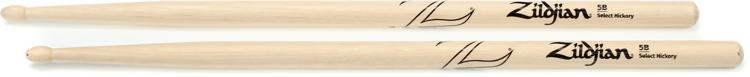 Zildjian 5BWN 5B Hickory Drumsticks - Wood Tip image 1