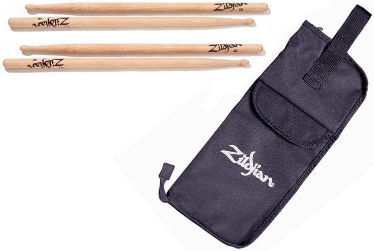 Zildjian Drumstick Bag - with Sticks image 1