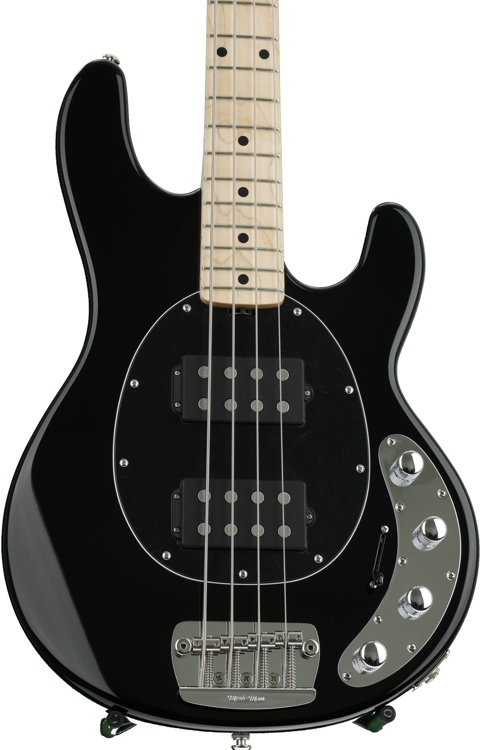 Ernie Ball Music Man StingRay 4 HH - Black, Maple Fingerboard image 1
