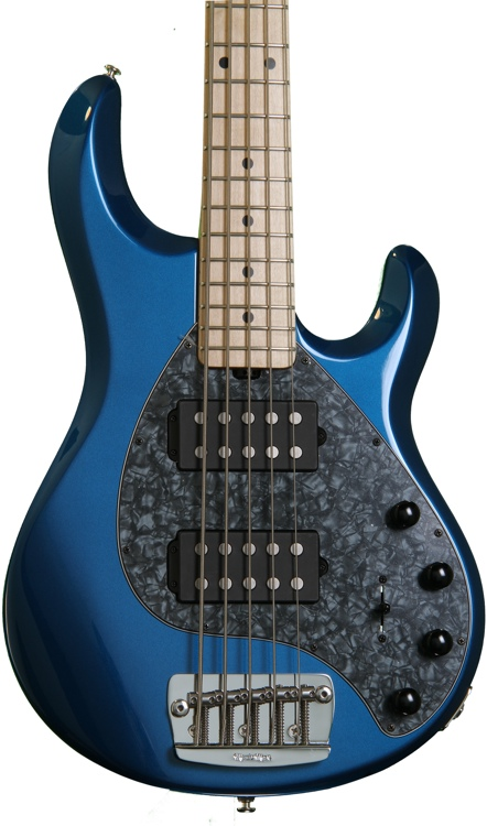 Ernie Ball Music Man StingRay 5 HH - Blue Pearl image 1