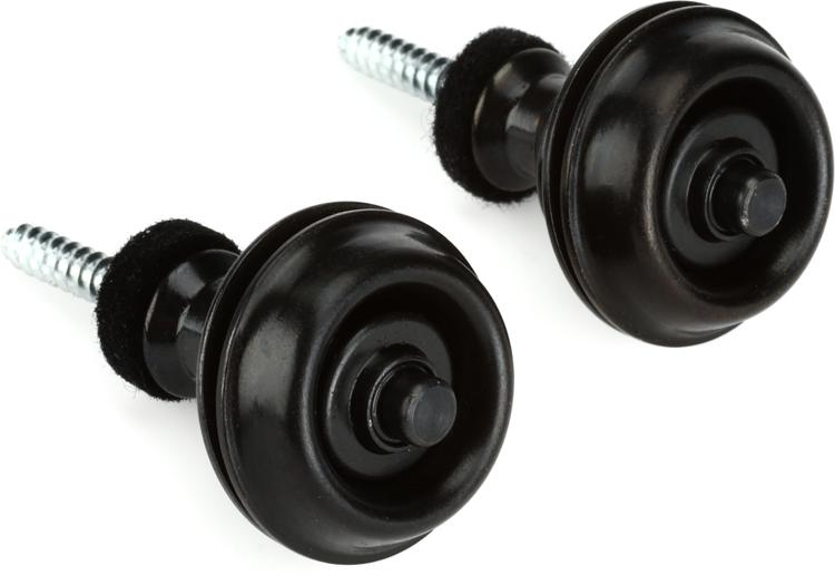 Dunlop Straplok Dual Design Strap Retainer System - Black image 1