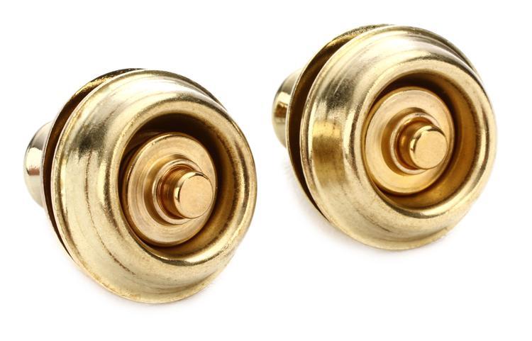 Dunlop Straplok Dual Design Strap Retainer System - Brass image 1