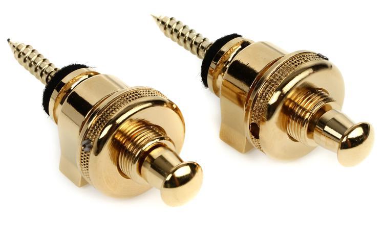 NEW Set of 2 Schaller #447 Strap Lock System GOLD
