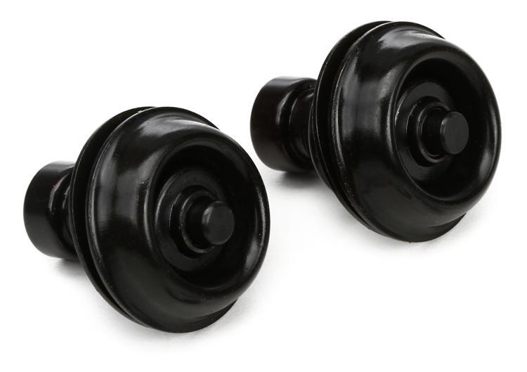Dunlop Straplok Traditional Strap Retainer System - Black image 1