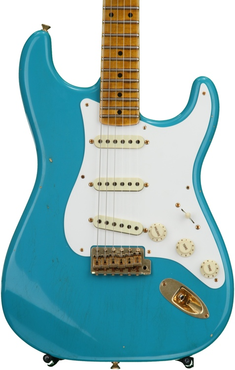 Fender Custom Shop 20th Anniversary Relic Stratocaster Ltd. Ed. - Taos Turquoise with Maple Fingerboard image 1