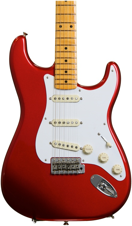 Fender Classic Series \'50s Stratocaster, Lacquer - Candy Apple Red with Maple Fingerboard image 1