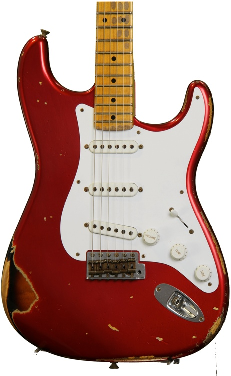 Fender Custom Shop 60th Anniversary 1954 Heavy Relic Stratocaster - Candy Apple Red over 2-Color Sunburst image 1