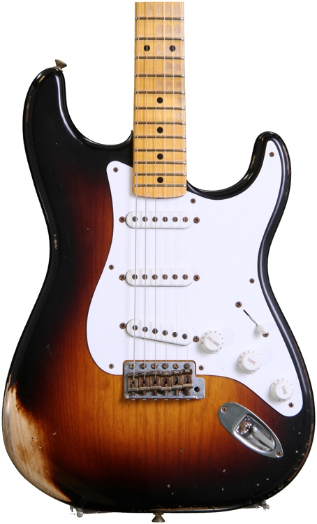 Fender Custom Shop 60th Anniversary 1954 Heavy Relic Stratocaster - 2-Color Sunburst  image 1