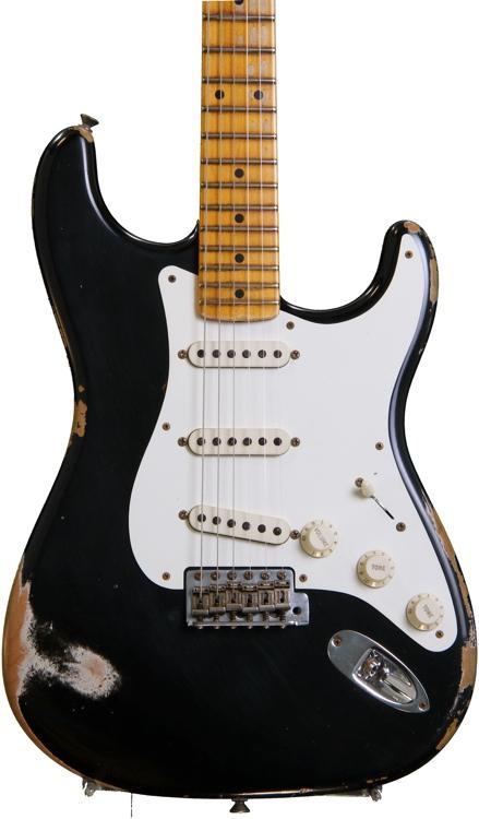 Fender Custom Shop 1956 Heavy Relic Strat - Black Ice image 1